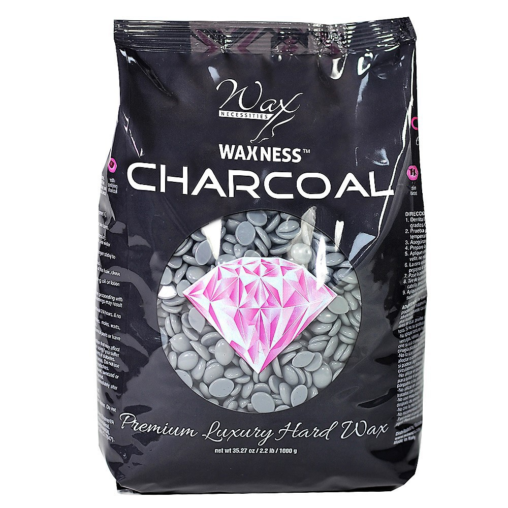 Charcoal Premium Luxury Hard Wax 2.2 Lb / 1 Kg