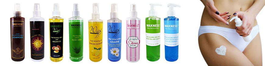 A wide range of high quality pre-post waxing oils, lotions and gels