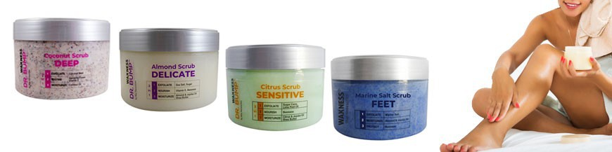 Waxness offer a wide range of scrubs enriched with natural ingredients