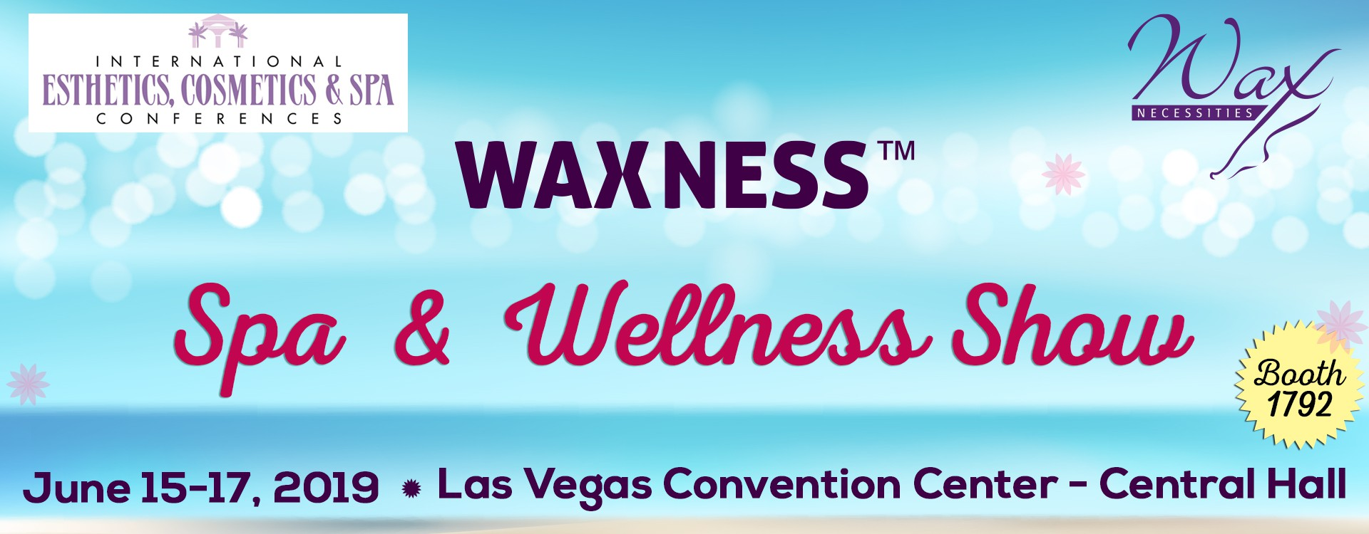 Spa and Wellness Show in Las Vegas, June 15-17, Booth 1792!