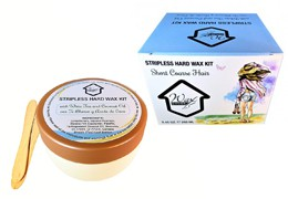 Microwavable Stripless Hard Wax Kit with White Tea and Coconut Oil
